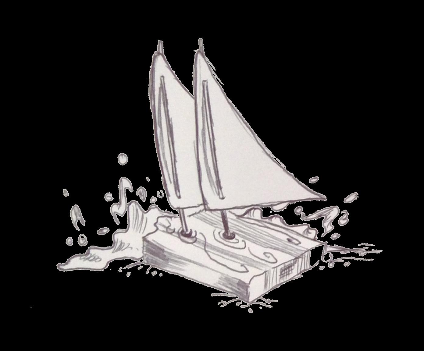 Segelschiff freigestellt