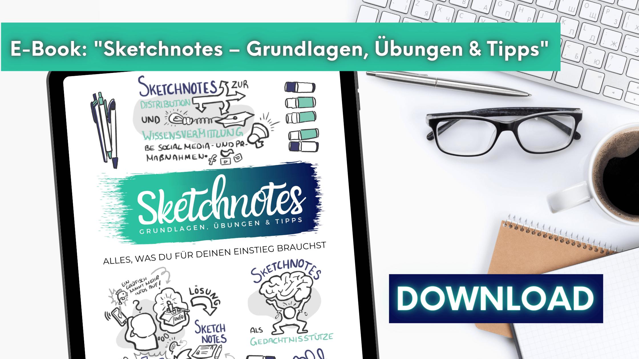 E-Book Sketchnotes-Grundlagen, Übungen & Tipps